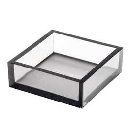 Caspari Lucite Acrylic Cocktail Napkin Holder - Smoke