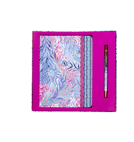 Lilly Pulitzer® Journal With Pen - Kaleidoscope Coral