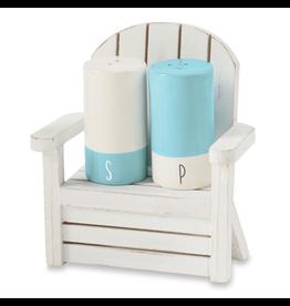 Mud Pie Beach House Beach Chair Salt and Pepper Shakers Set