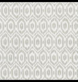 Caspari Paper Cocktail Napkins 20ct Amala Ikat Grey Napkin