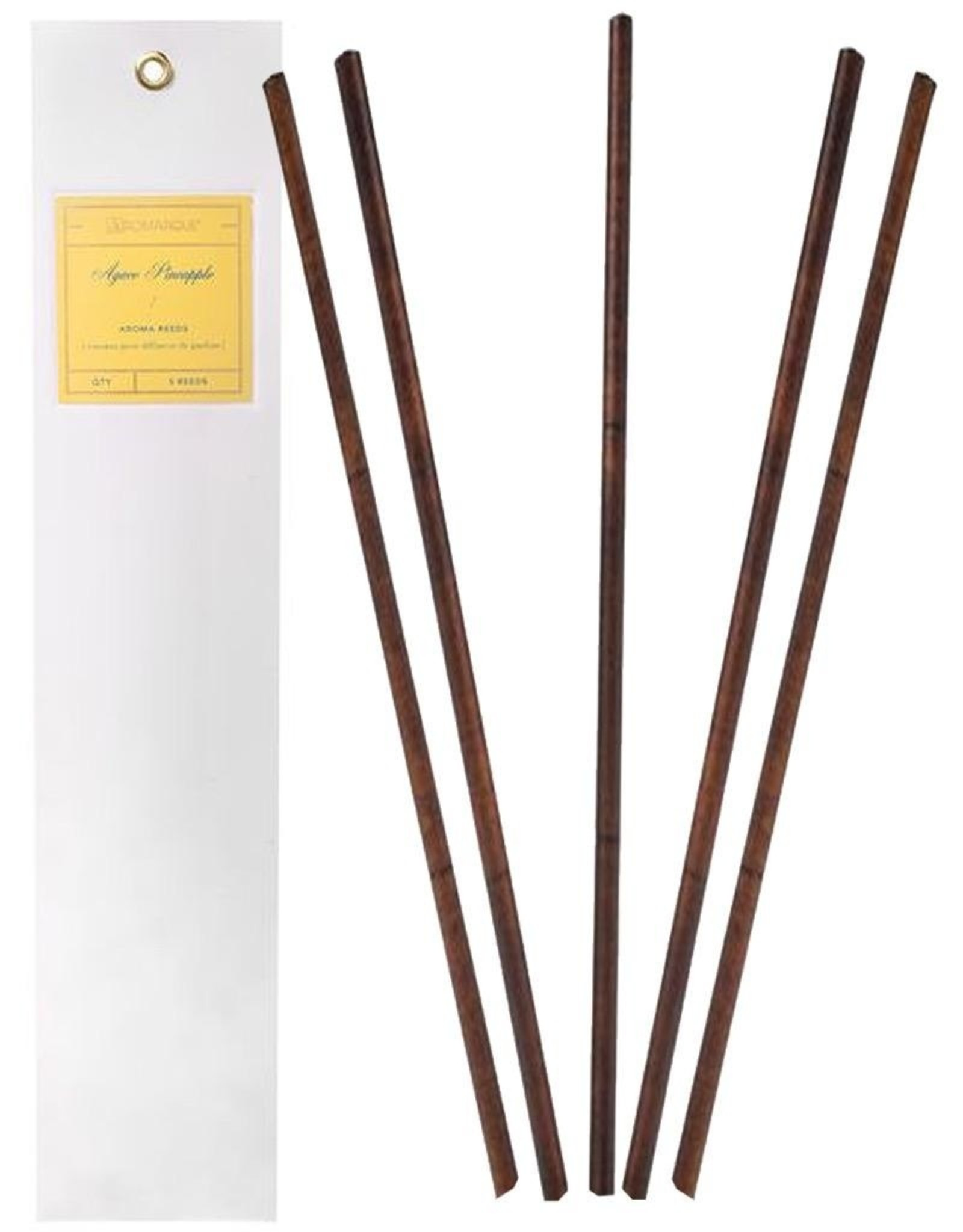 Aromatique Agave Pineapple Aroma Reeds 5 Pre-Fragranced Reeds