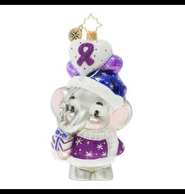 Christopher Radko Never Forget Elephant Christmas Ornament