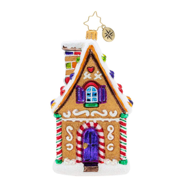 Christopher Radko Delicious Treasure Gingerbread House Christmas Ornament