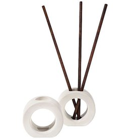 Aromatique White Ceramic Pre-Fragrance Reed Holder 60-383