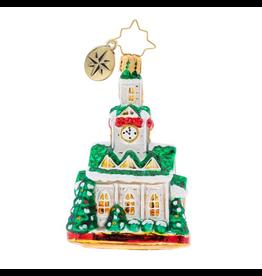 Christopher Radko Blessed Gathering Gem Church Christmas Ornament