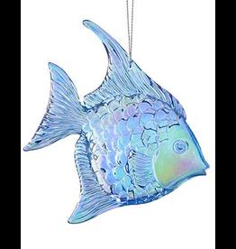 Kurt Adler Iridescent Acrylic Angel Fish Ornament - B