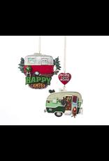Kurt Adler Campers Camping Christmas Ornaments Set of 2