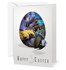 By The Seas-N Greetings Easter Card Happy s-Easter Sending Hugs and Happy Fishes