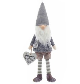 Kurt Adler Gnome Ornament w Heart Sign Gnome Body Like You