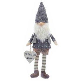 Kurt Adler Gnome Ornament w Heart Sign No Place Like Gnome