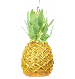 Kurt Adler Noble Gems Glass Pineapple Ornament - Yellow