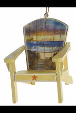Kurt Adler Adirondack Beach Chair Coastal Christmas Ornament - Yellow