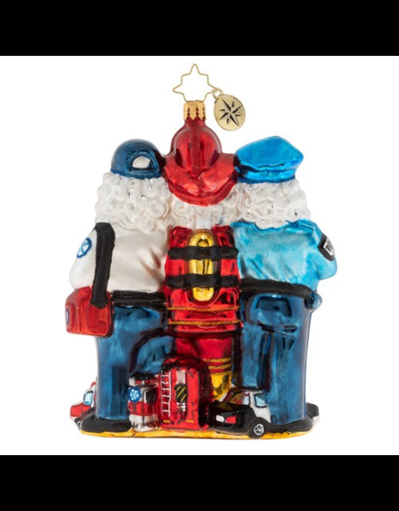 Christopher Radko 2019 St. Nick First Responders Christmas Ornament