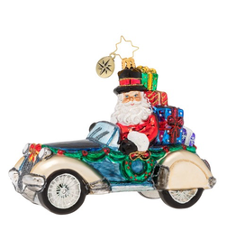 Christopher Radko Retro Roadster Christmas Ornament