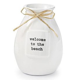 Mud Pie Beach House Bud Vase w Setiment - Welcome To The Beach