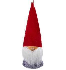 Kurt Adler Gnomes Wood and Felt Dwarf Gnome Ornament 5 inch w Red Hat