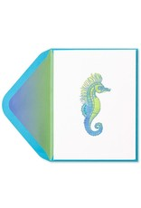 PAPYRUS® Blank Card Seahorse with Gems