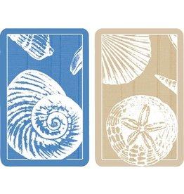 Caspari Playing Cards 2 Decks of Shells Bridge Cards