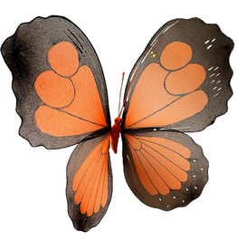 Premier Large Butterfly Decoration 21 Inch Orange Nylon w Wire Frame
