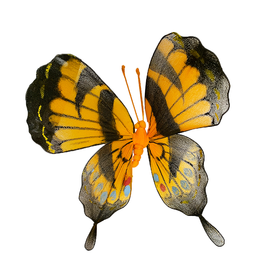 Premier Butterfly Decoration 9 Inch Yellow Nylon w Wire Frame