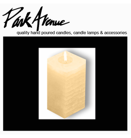 Park Avenue Candles Textured Square Candle Champagne 9x4