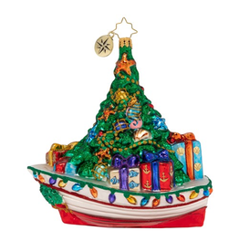 Christopher Radko Riding The Waves of Christmas Ornament