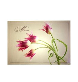 Mothers Day Card With Tulip Flowers