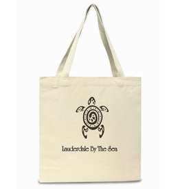 Digs Lauderdale By The Sea Cotton Canvas Tote Bag - Sea Turtle