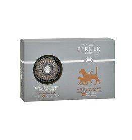 Maison Berger Car Diffuser Kit Vent Clip w Scent Anti-Odor Pet