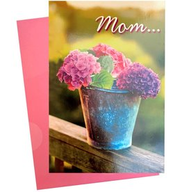 Avanti Mothers Day Card Bucket of Hydrangeas Flowers