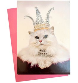 Avanti Mothers Day Card Mom Rules Cat Wearing Mom Crown