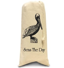 Digs Seas The Day Cotton Wine Bag With Pelican