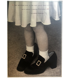 Mothers Day Card Little Girl In Moms Shoes