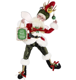 Mark Roberts Fairies Christmas Grinchy Fairy LG 22 inch Dont Get Your Tinsel In A Tangle