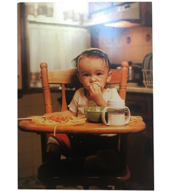 Mothers Day Card Messy Baby Eatting In High Chair
