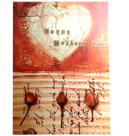 Mothers Day Card Hearts And Roses
