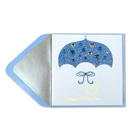 PAPYRUS® Wedding Bridal Shower Card Glitter Umbrella With Gems