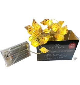 Kurt Adler Shell Fairy Lights 20 Light Set Battery-Operated Babylon Shells