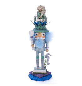 Kurt Adler Hollywood Nutcrackers Mermaid King Nutcracker 17.5 Inches