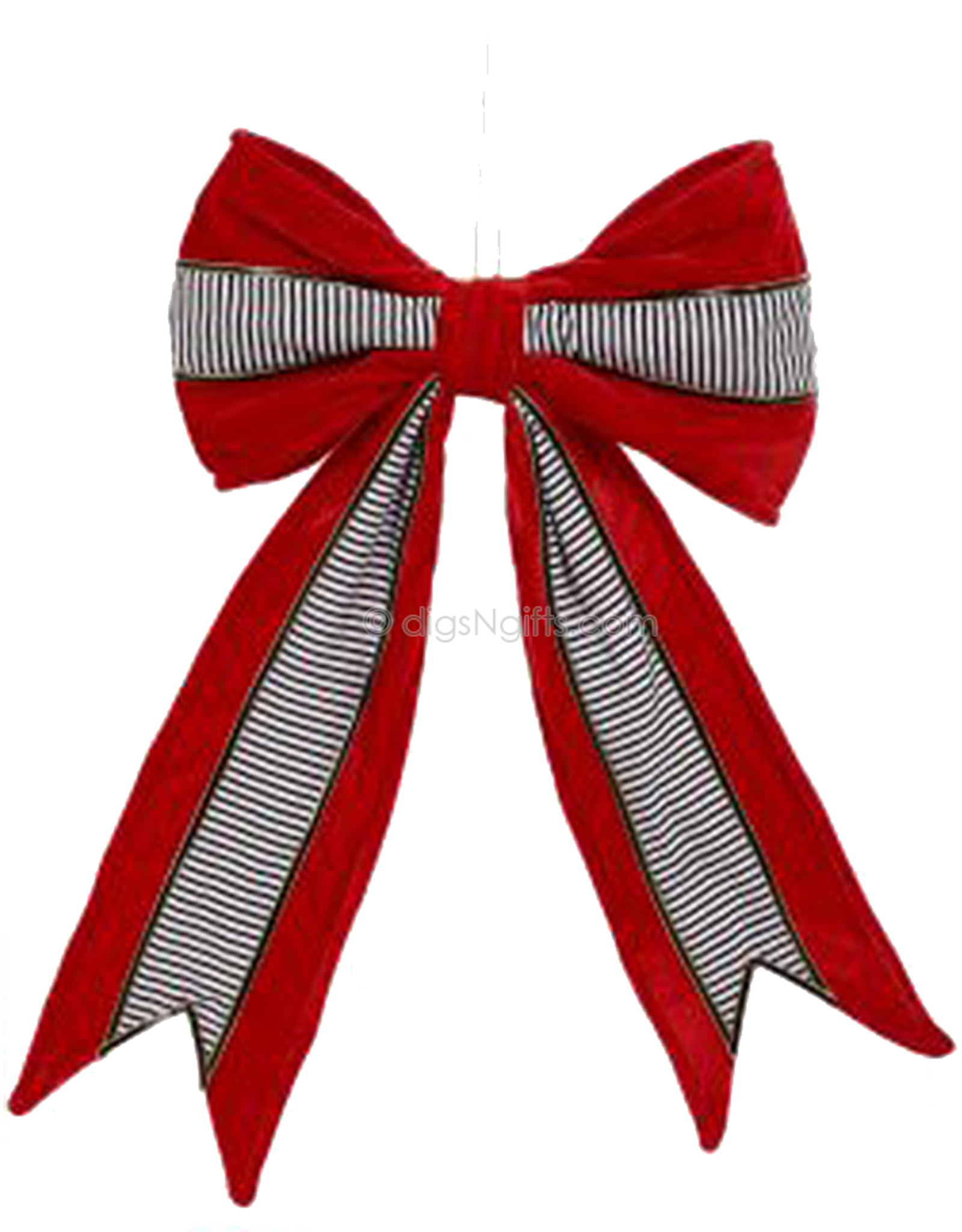 RedBlack Single Ribbon Bows