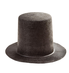 Darice Christmas Black Stovepipe Felt Top Hat  5.75x5.5x3.37 Inch