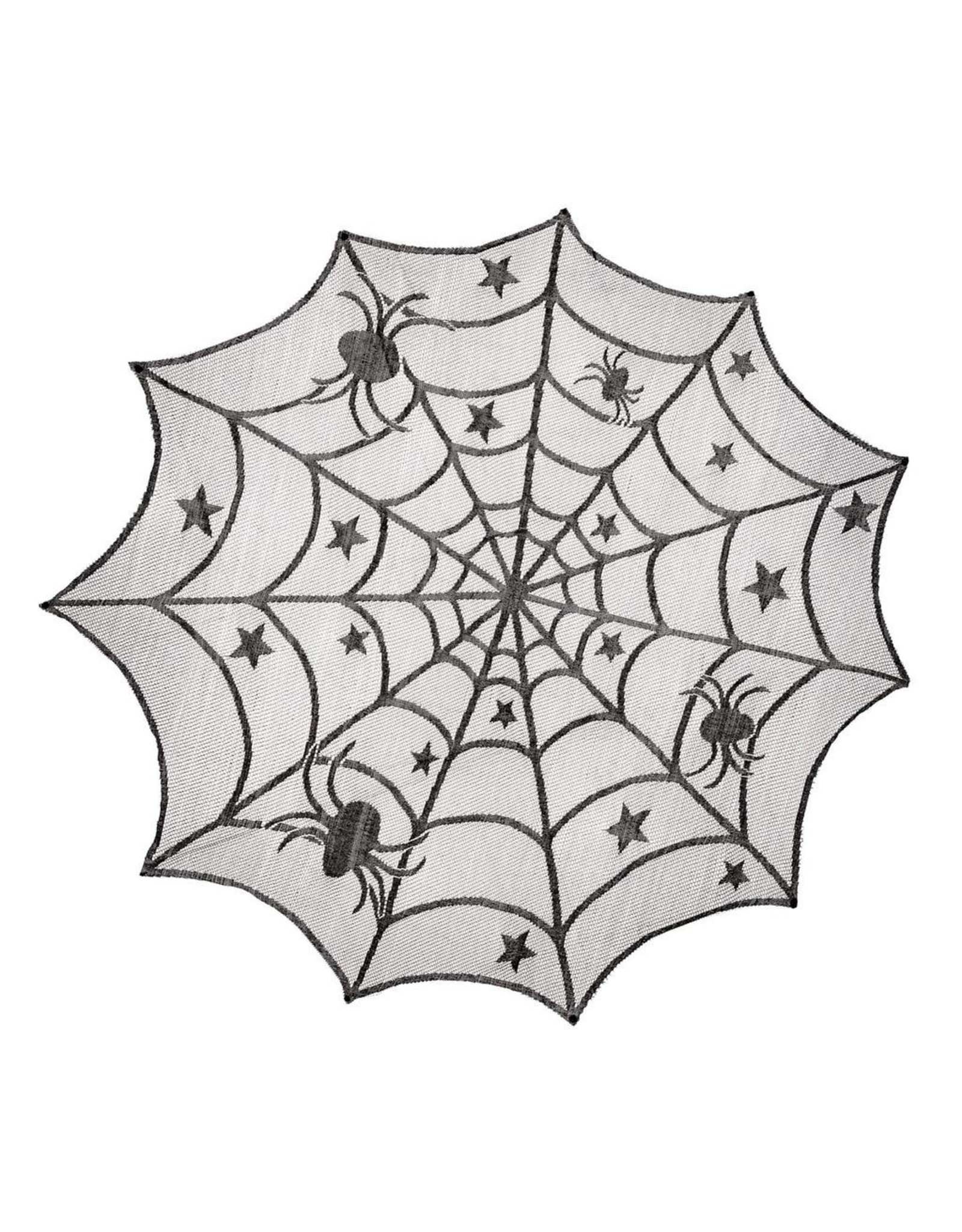 Darice Halloween Spider Web Lace Tablecloth 40 Inch Diameter