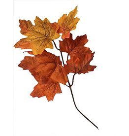 Darice Fall Leaf Floral Pick Maple Leaves Single 8 Inch Pick