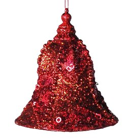 Katherine's Collection Red Encrusted Bell Christmas Ornament SM 5x3.75 Inch