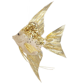 Mark Roberts Angel Fish Ornaments 13x8.5x2.75 Inch Gold