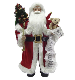 Darice Large Santa With List Figurine Christmas Decoration 24x13 Inch