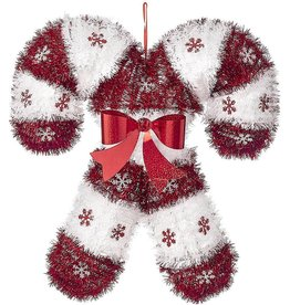 Darice Tinsel Candy Canes Hanging Decoration 17x16 Inch