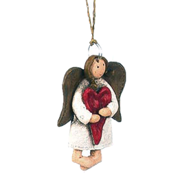 Darice Mini Angel Ornament Angel Standing Holding Heart