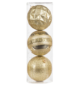 Darice Large Ball Ornaments Gold 3pk 150mm Shatter-Proof -B
