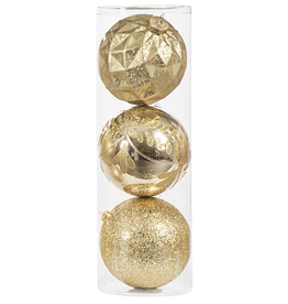 Darice Large Ball Ornaments Gold 3pk 150mm Shatter-Proof -D